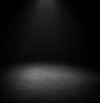 Fond de plancher sombre espace vide noir pour afficher vos produits, texture du sol de la surface en béton noir
