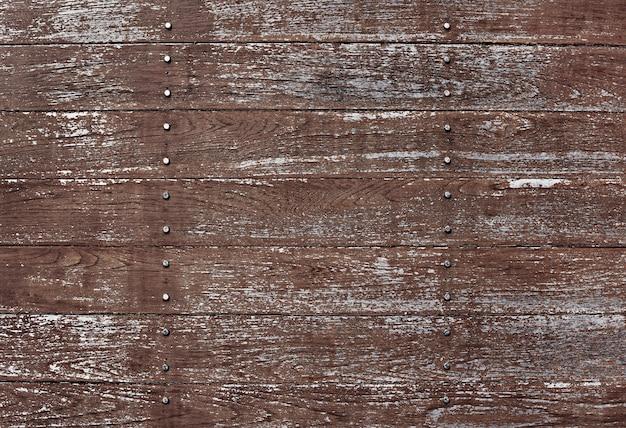 Fond de plancher texturé en bois brun rayé
