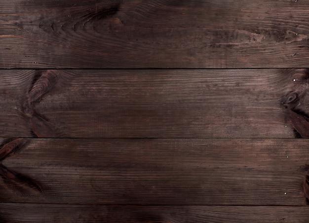 Fond de planches de bois brunes parallèles