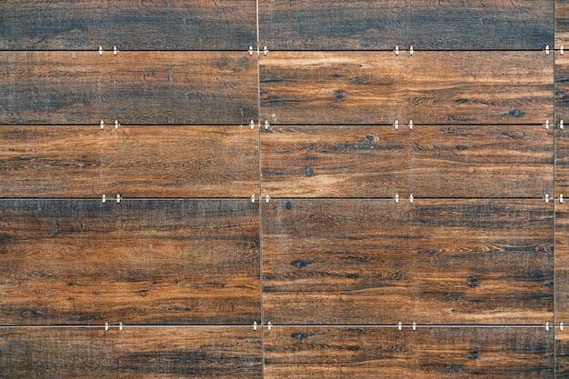 Fond de planches de bois brut brun, espace copie