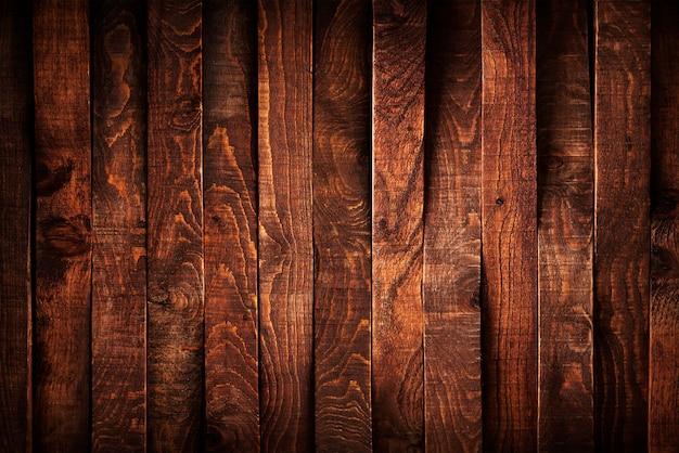 Fond de planches de bois foncé