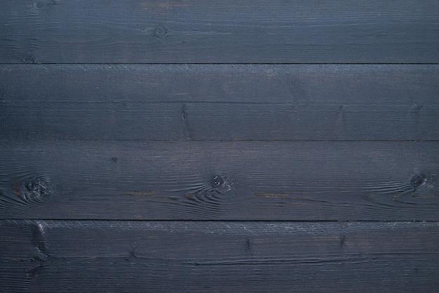 Fond de planches de bois noir