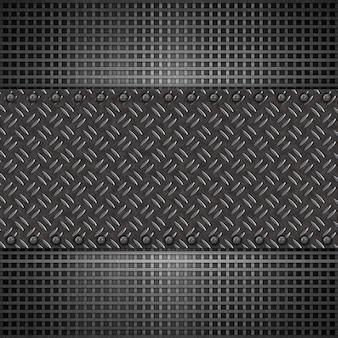 Fond de plaque métallique abstraite