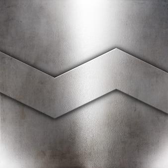 Fond de plaque métallique de style grunge 3d
