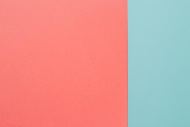 Fond plat rose et bleu