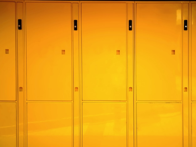 Fond plein cadre de casiers brillants jaunes vives
