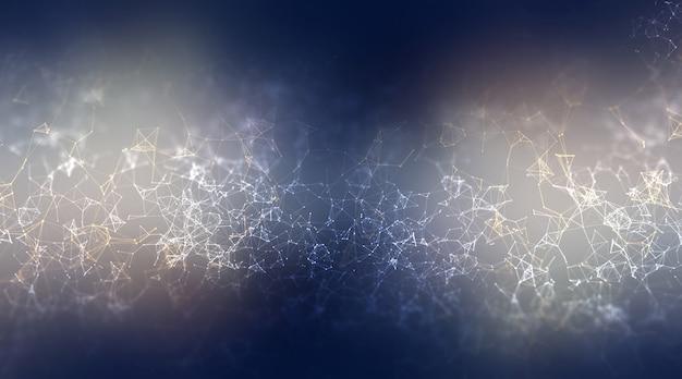 Fond de plexus abstrait 3d