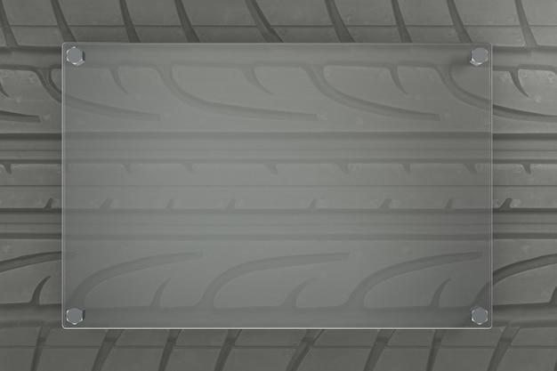 Fond de pneu rendu 3d avec des formes de verre