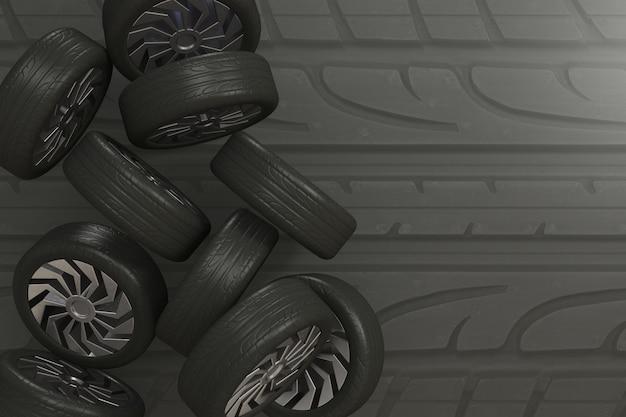 Fond de pneu rendu 3d