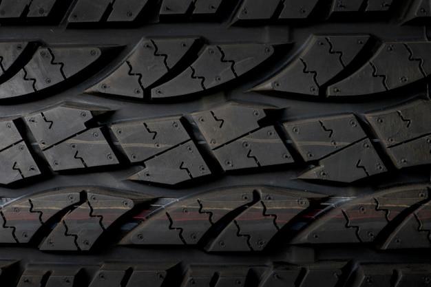 Fond de pneu de voiture, fond de gros plan de texture de pneu.