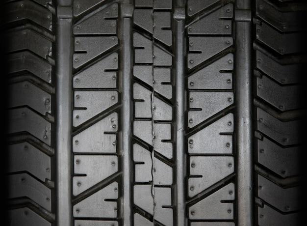 Fond de pneu de voiture, fond de texture de pneu closeup