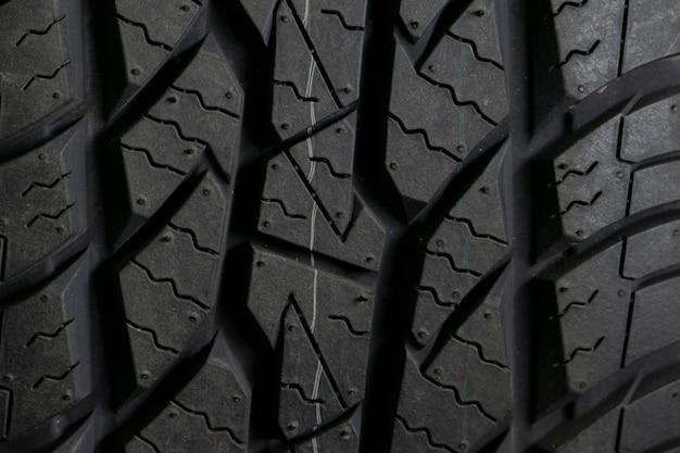 Fond de pneu de voiture, pneu closeup texture.