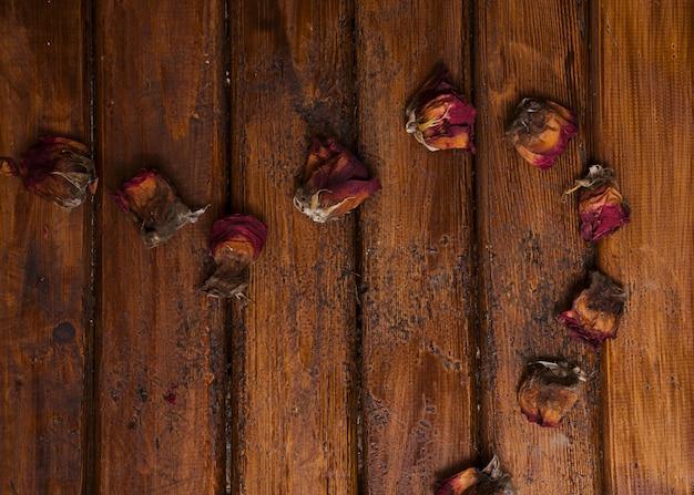 Fond polyvalent de roses séchées