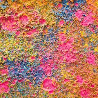 Fond de poudre coloré