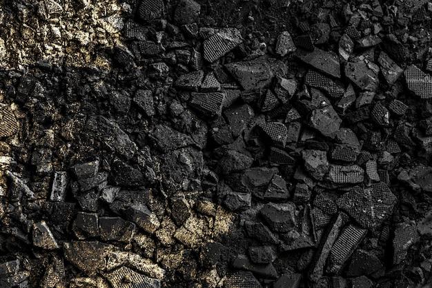 Fond de poudre de fard à paupières noir cassé