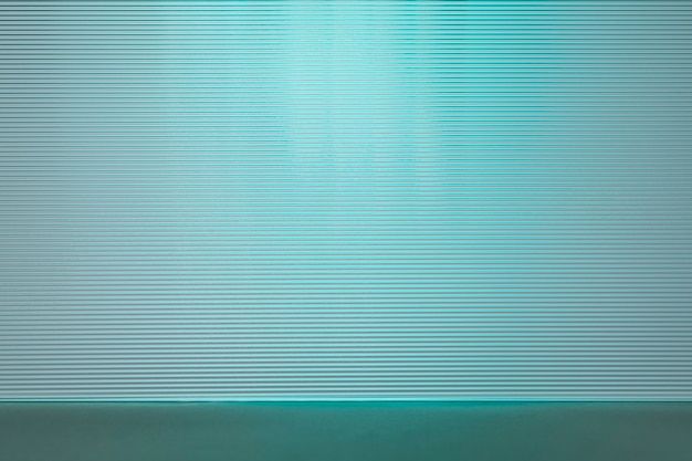 Fond de produit bleu avec verre à motifs