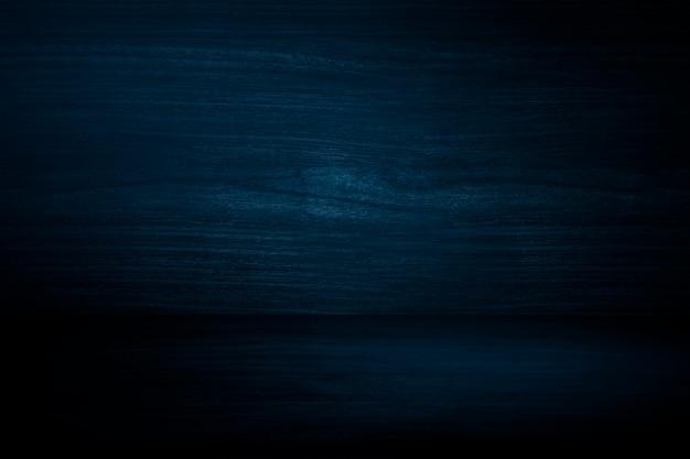 Fond de produit mural en bois bleu foncé uni