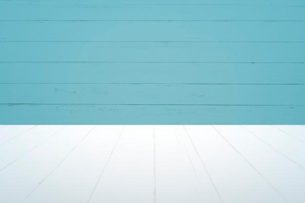 Fond de produit de planches bleues unies