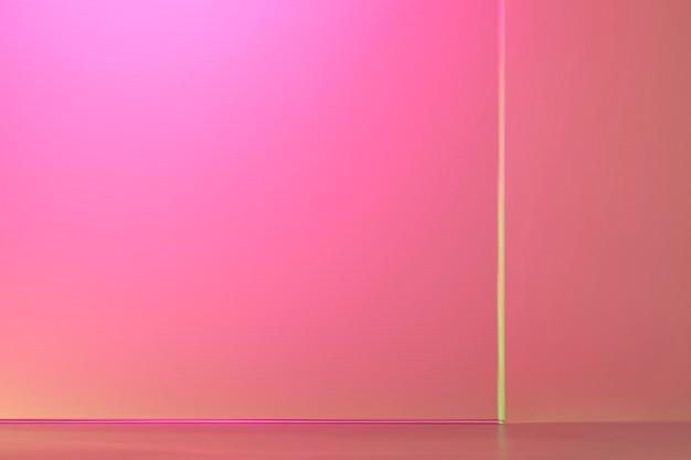 Fond de produit rose avec verre à motifs