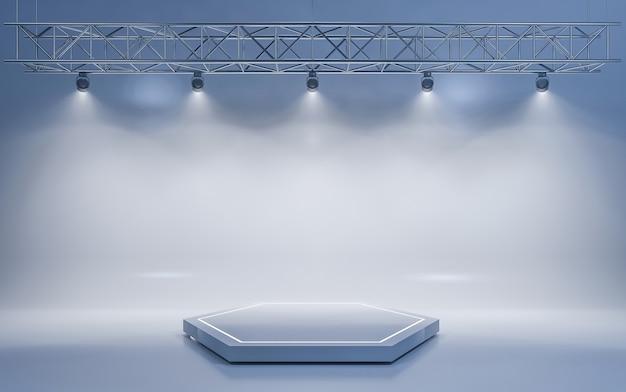 Fond de projecteur et lampe avec scène