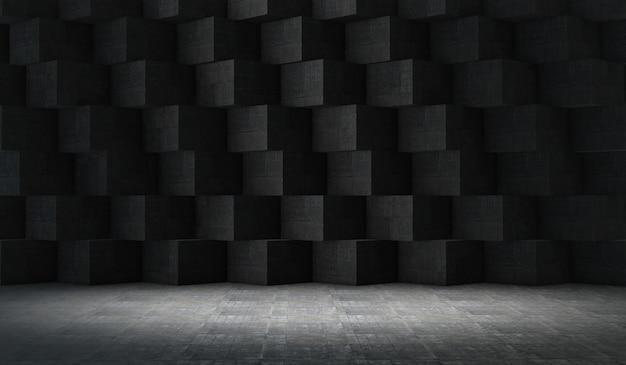 Fond de projecteur de vitrine de produit, espace vide abstrait, rendu 3d
