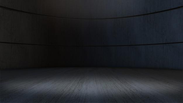 Fond de projecteur de vitrine de produit, salle vide rendu 3d