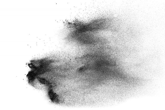 Fond de projection de particules de poussière