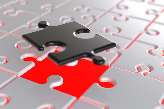 Fond de puzzle de rendu 3d.