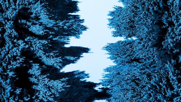 Fond de rasage en métal magnétique bleu