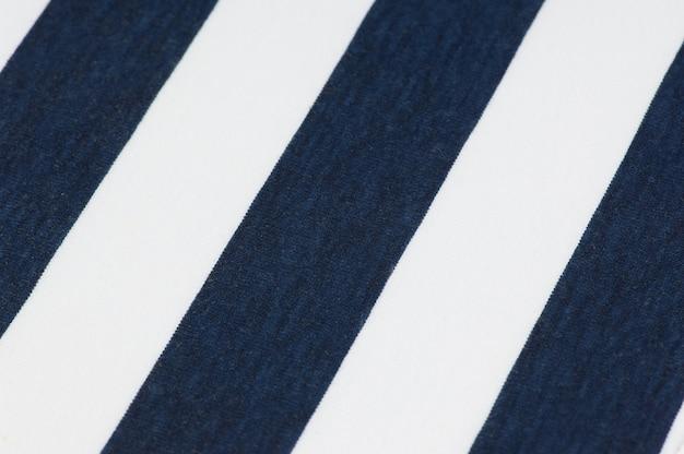 Fond rayé en tissu et textiles de couleur bleu et blanc