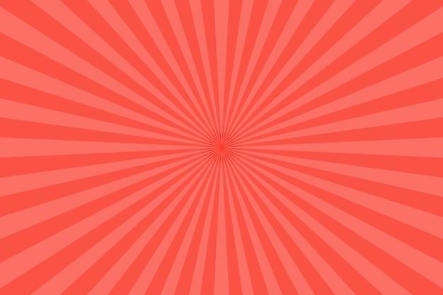 Fond de rayons rouges