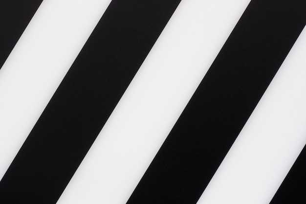Fond de rayures diagonales noir et blanc, texture
