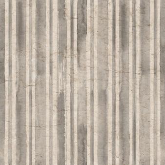 Fond de rayures grises vintage vieux papier vieilli avec motif à rayures aquarelle dessinés à la main
