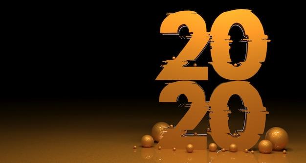 Fond de réalisme 3d nouvel an 2020