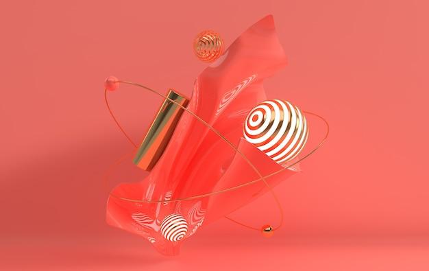 Fond de rendu 3d art abstrait dans un style minimaliste moderne