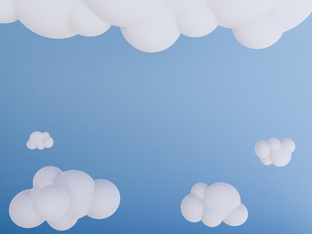 Fond de rendu 3d de dessin animé ciel