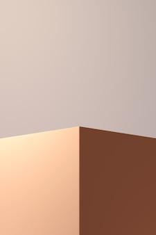 Fond de rendu 3d avec forme géométrique
