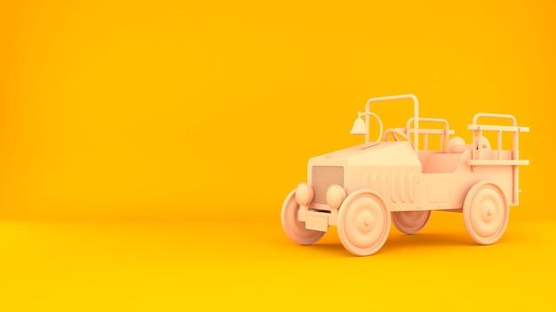 Fond de rendu 3d de voiture classique