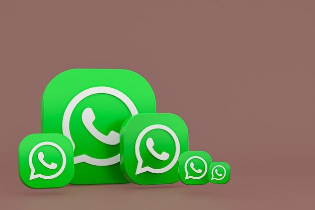 Fond de rendu de l'icône 3d du logo whatsapp