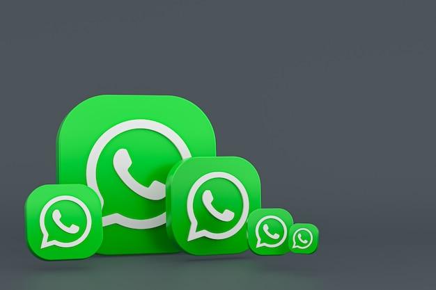 Fond De Rendu Icône Logo Whatsapp Photo Premium
