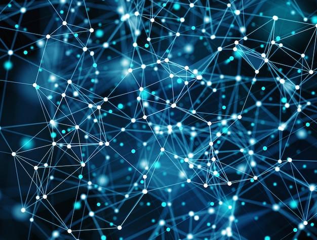 Fond de réseau de connexion internet abstraite futuriste avec effets de mouvement