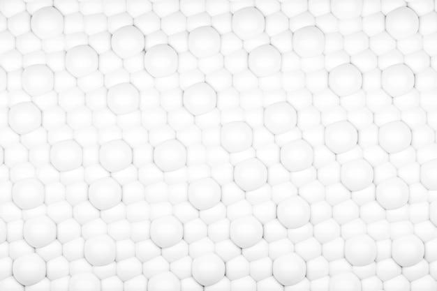 Fond de résumé de sphères blanches
