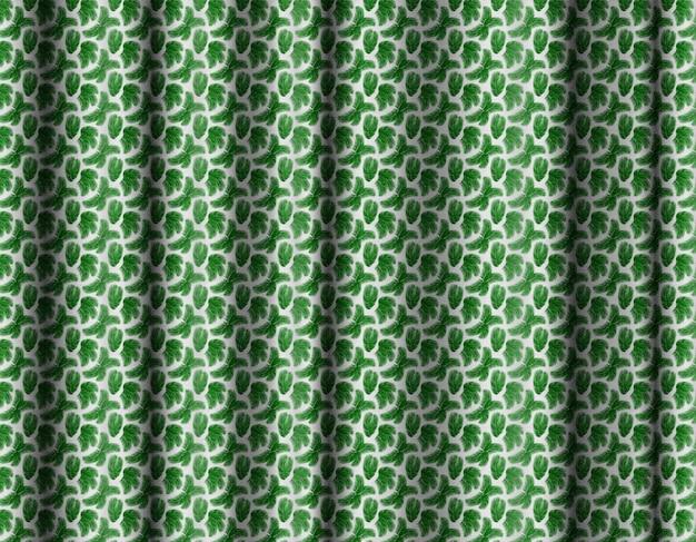 Fond de rideau 3d à motifs tropicaux.