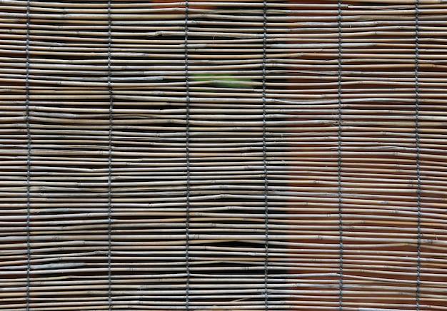 Fond de rideau en bambou