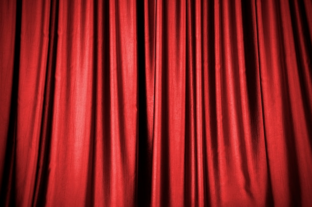 Fond de rideau de scène rouge