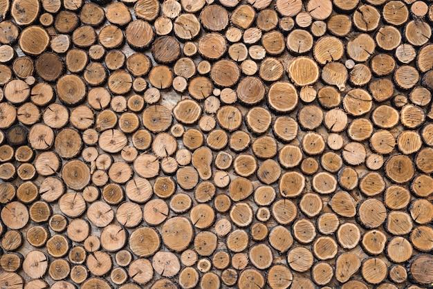 Fond de rondins en bois naturel