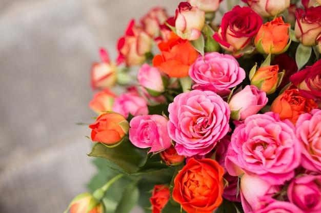 Fond de roses de couleur douce