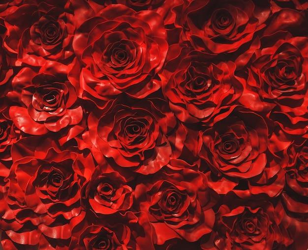 Fond de roses rouges. décoration de la saint-valentin amour romantique