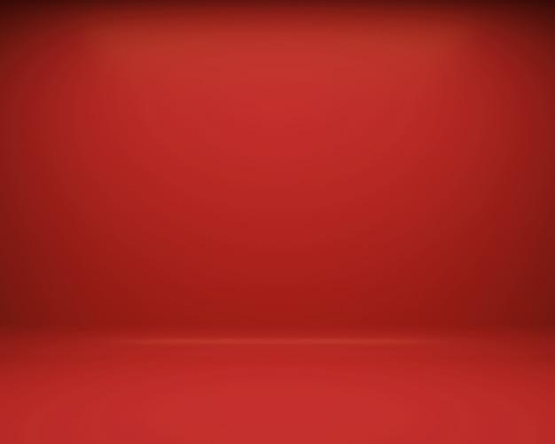 Fond rouge de plancher et de mur. rendu 3d