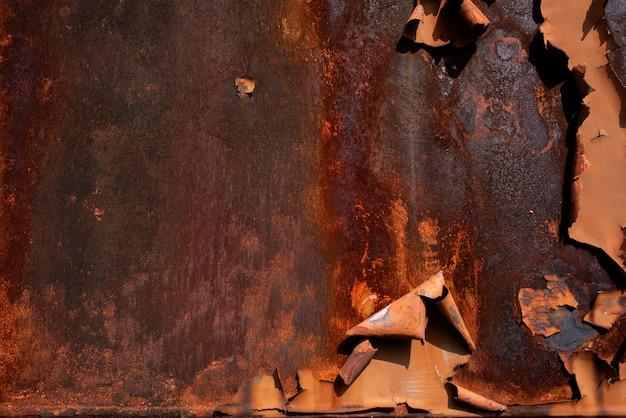Fond de rouille métallique texture de rouille métallique